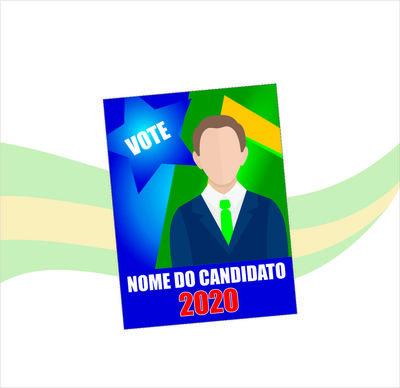 Santinhos de Propaganda Política (70x100mm) - 4x0 cores ( FRENTE ) - 90g