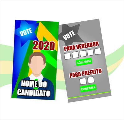 COLINHA Propaganda Política - 4X4 CORES ( COLORIDO FRENTE E VERSO )