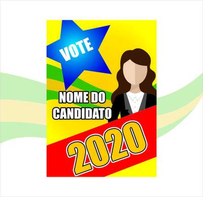 Cartaz de Propaganda Política (400x600 mm) - 4x0 cores ( FRENTE )  - 90g