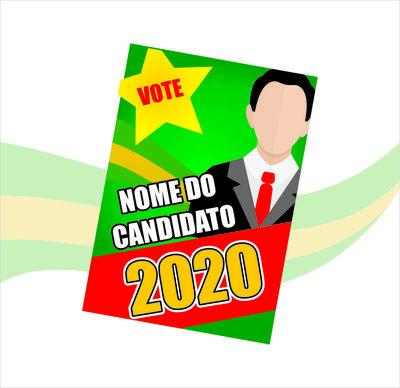 SANTÃO Propaganda Política (200x150m) - 4x0 cores ( FRENTE )  - 90g