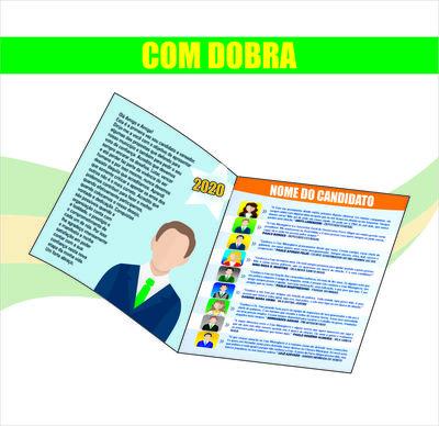 Panfleto de Propaganda Política (200x300m) - 4x4 cores ( FRENTE )  - 90g