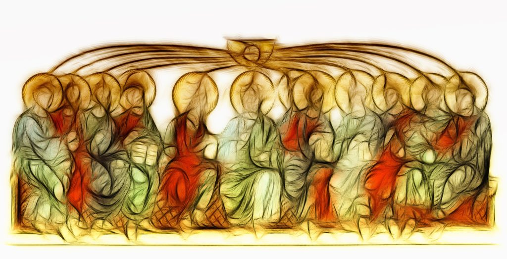 Artistic rendering of Pentecost