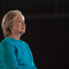 image of hillary clinton with black background