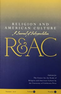 image of journal cover for religion and american culture