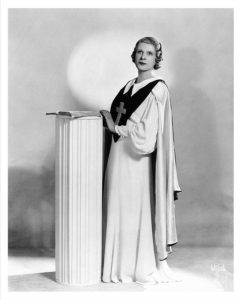 image of Aimee Semple McPherson (via wikimedia commons)