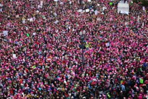 image of women's march in Washington DC 2017