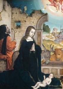 image of flemish nativity scene