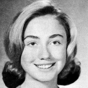 image of hillary clinton black and white
