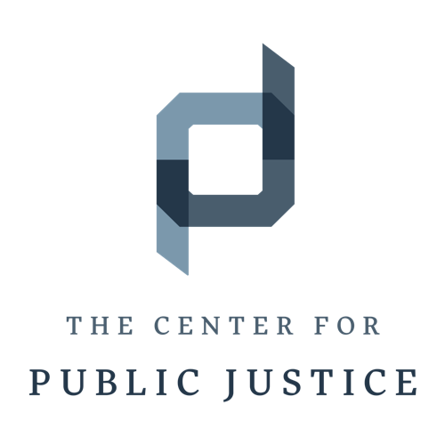 image of logo for center for public justice review