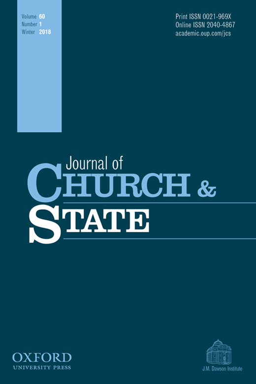 image of the journal of church and state