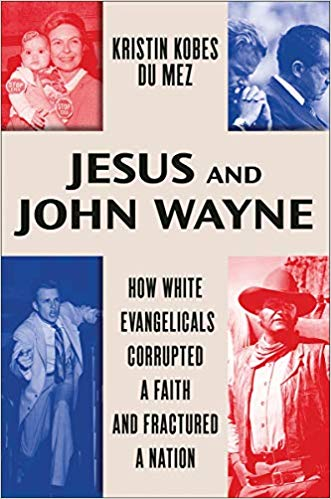 image of temporary book cover - draft for book jesus and john wayne