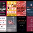 collage of book from the article by kristin dumez at patheos.com/anxious bench regarding 2020 must-reads