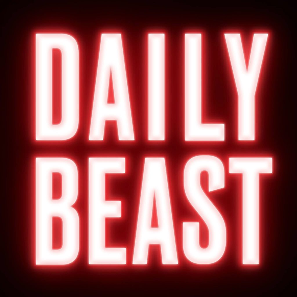 logo of the daily beast on black background