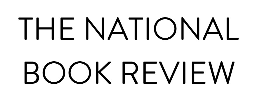 image of the national book review website header