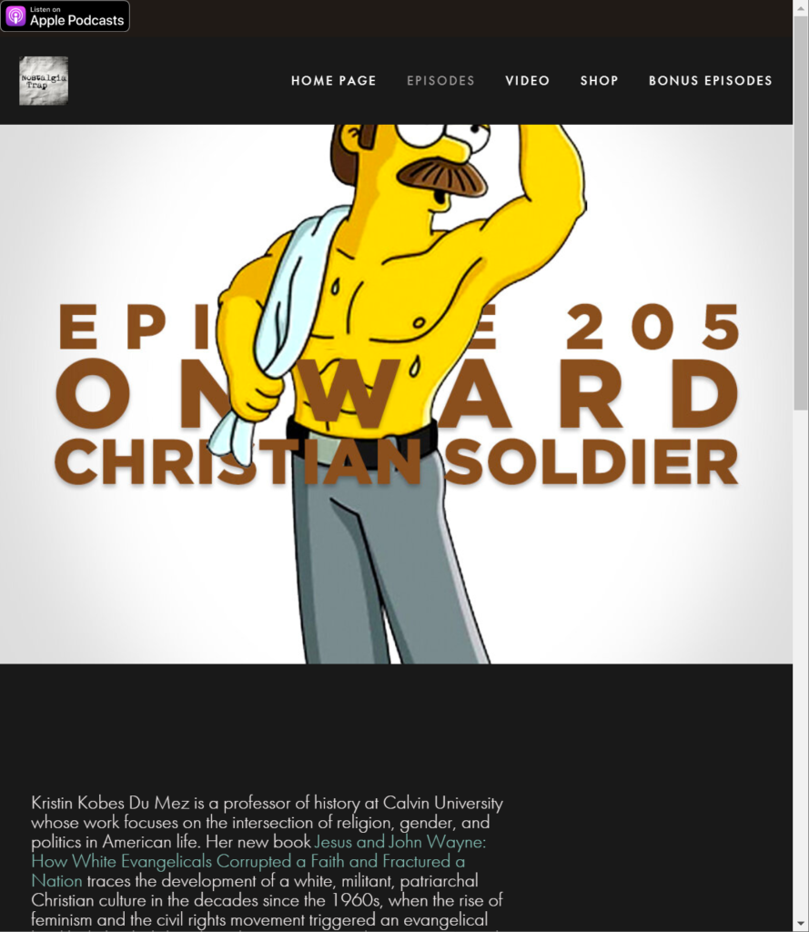 screencapture of the nostalgia trap with simpson character
