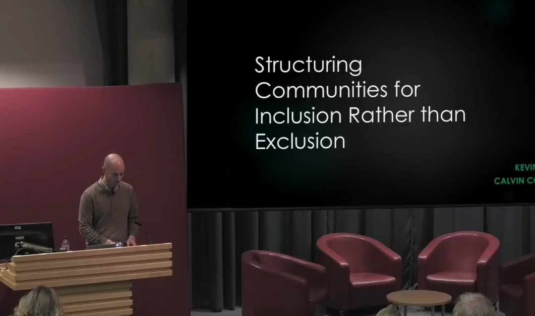 Structuring Communities for Inclusion rather than Exclusion