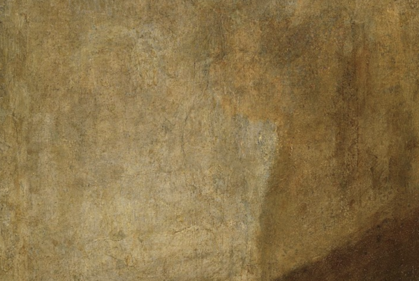 "detail of ""The Dog"" by Goya"
