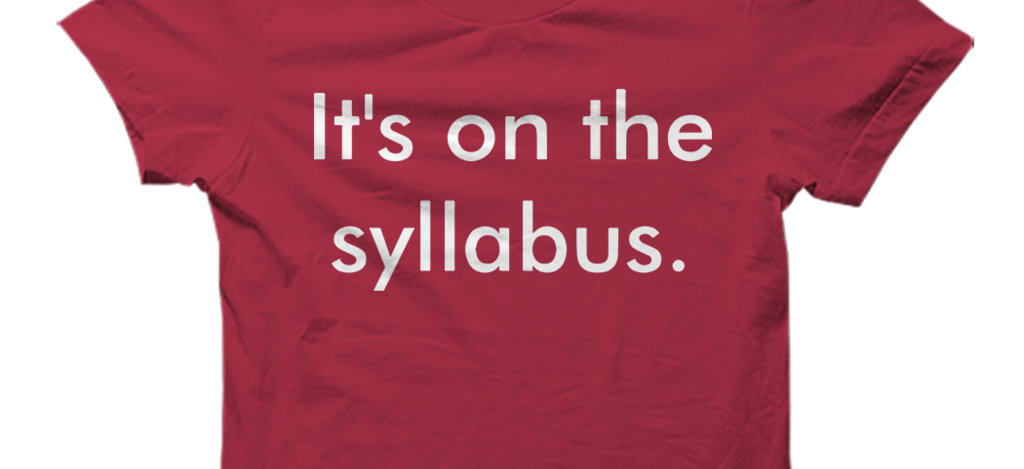 The College Syllabus: An Annotated Guide