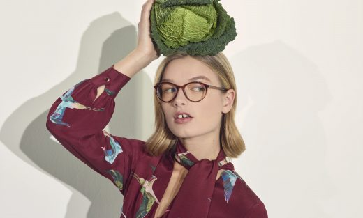 Photograph of model wearing SAISSA TB9175 Optical Eyewear Ted Baker
