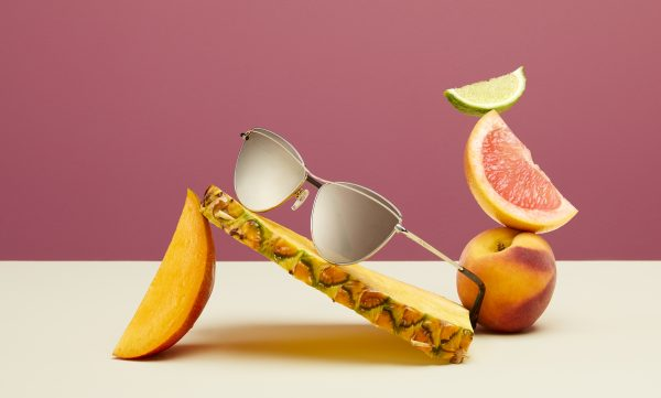 Ted Baker womens sunglasses Ireine TB1545 photographed with fruit