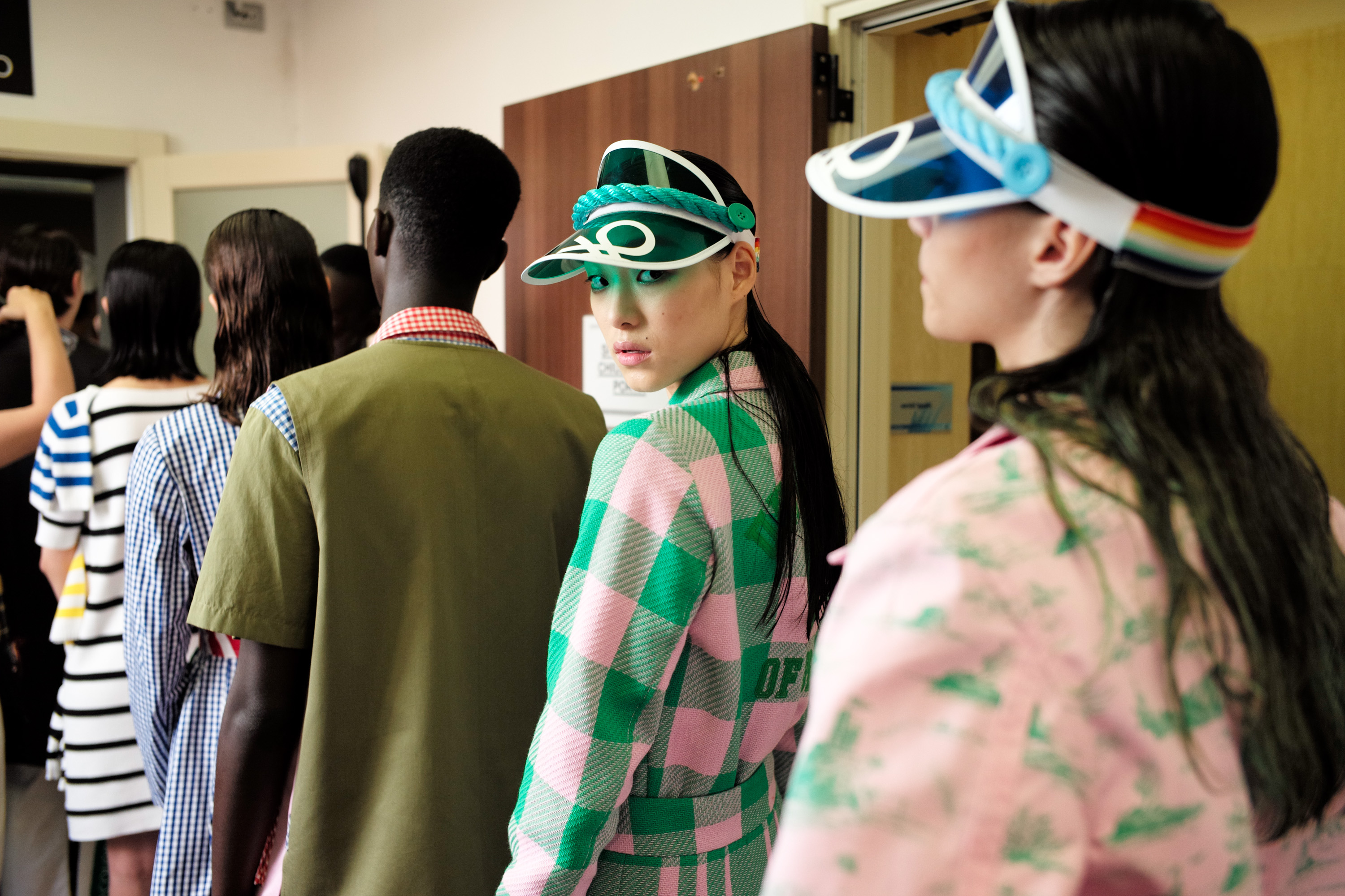 Benetton backstage at ss20 Colorwave show