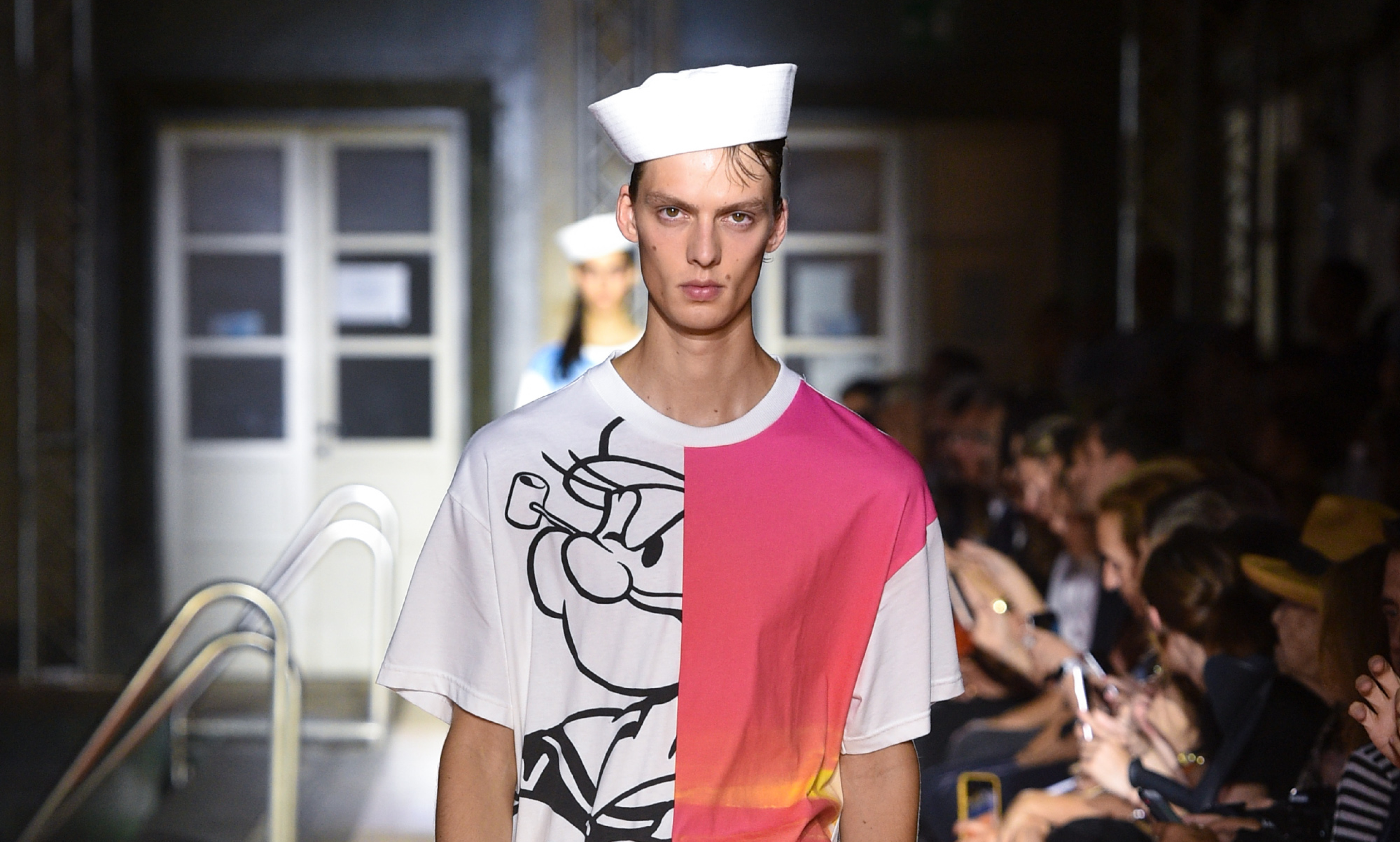Popeye the Sailor Man on the runway