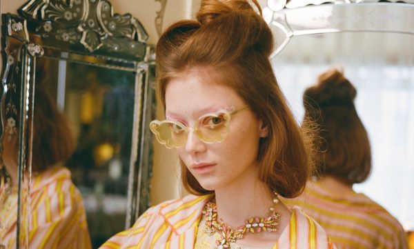 MELLOW YELLOW BUTTERFLIES WITH ANNA SUI SUNGLASSES