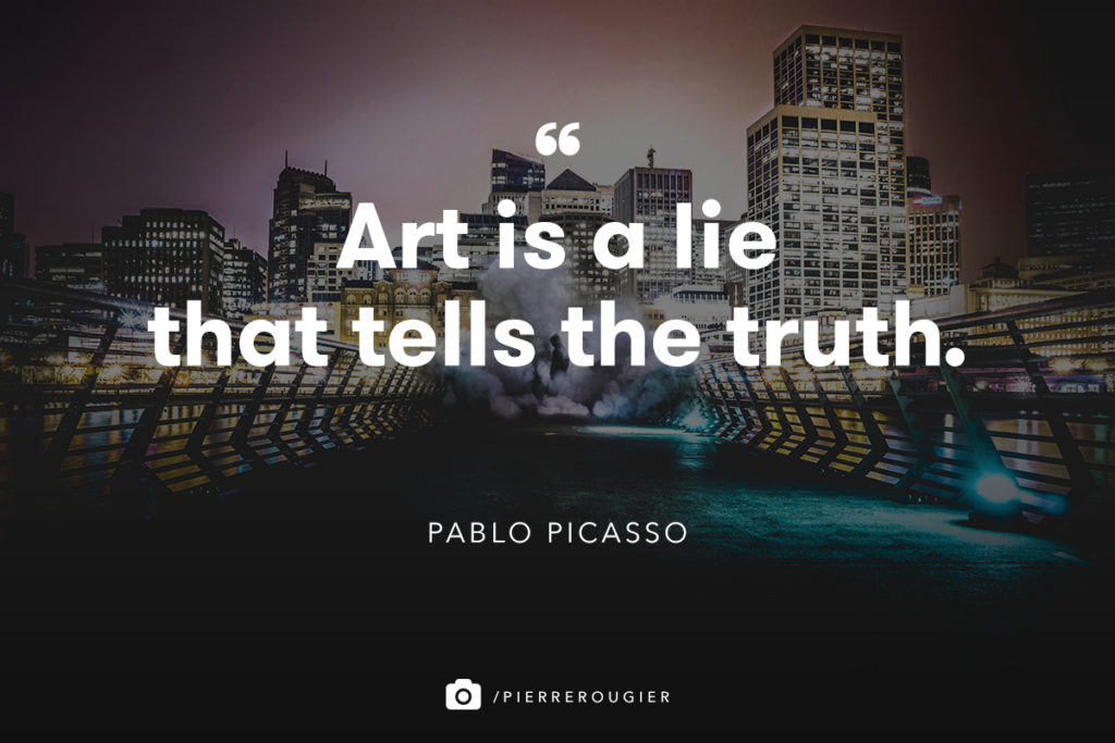 Art is a lie quote
