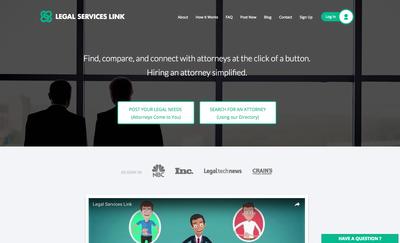 Legal-services-link-website-screenshot