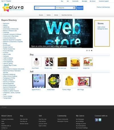 Caluva-home-page