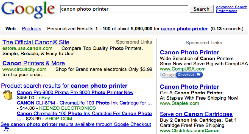 Google Canon Photo Printer