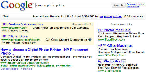 Google HP Photo Printer
