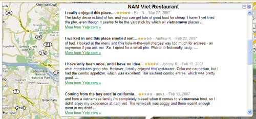 Google Maps Review Example