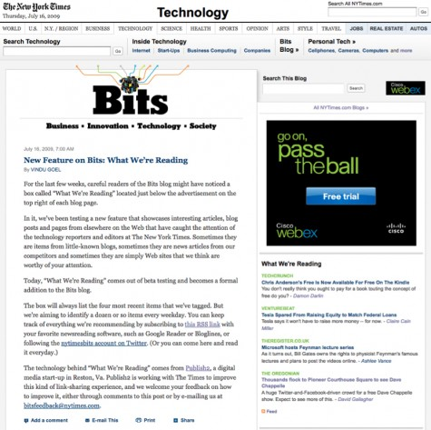 New Feature on Bits What We're Reading