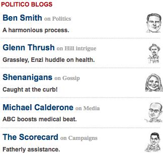 Politico Blogs