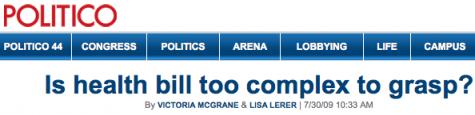 Politico headline byline