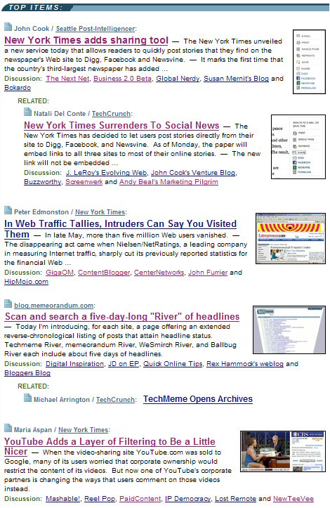 Techmeme New York Times 1