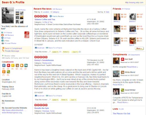Yelp User Profile