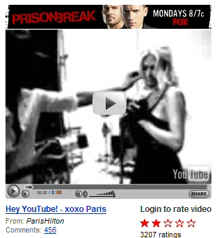YouTube Paris Hilton
