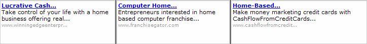 MySpace Google Ad