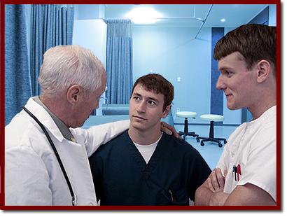 doctors conversing