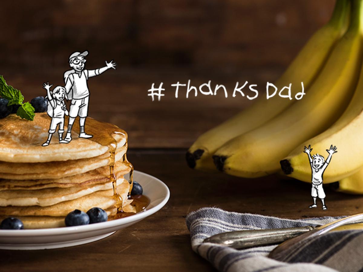pancakes and bananas