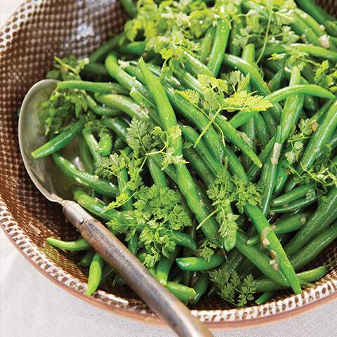 Sautéed Green Beans with Herbs