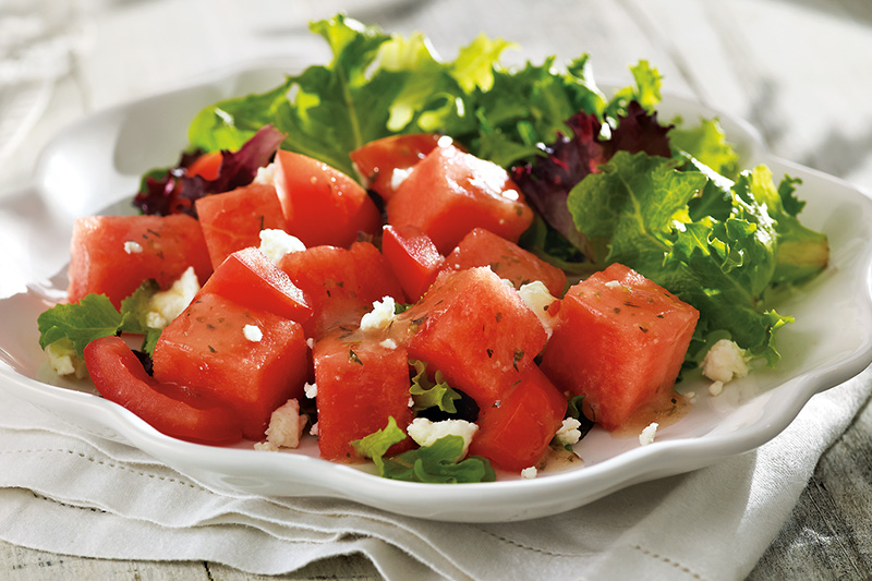 Watermelon and Summer Tomato Salad