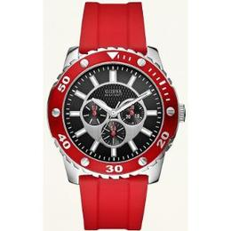 Guess U11066l1 Reloj Piel Blanco Transparente $ Envio Gratis