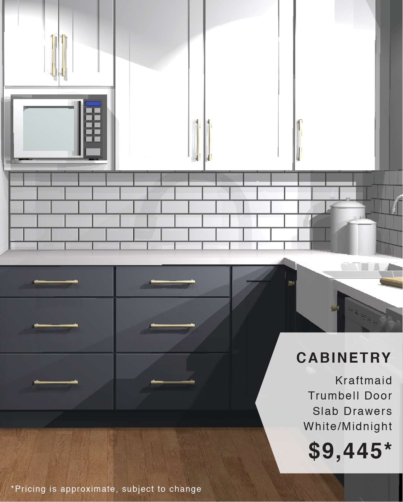 Get The Look Navy And White Two Tone Kitchen