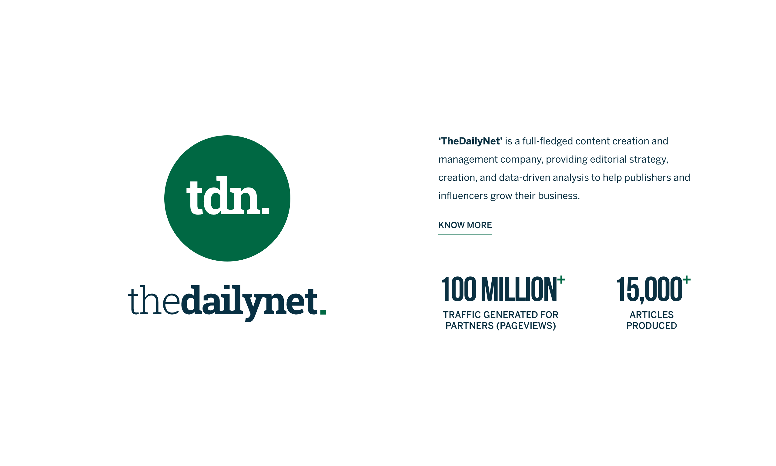 The Daily Net - Editorial Strategy, Creation for Publishers and Influencers