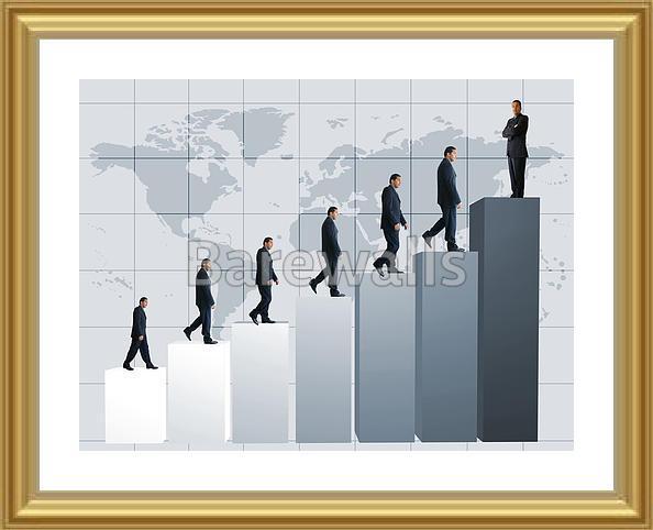 Wall Art of Business success - graph 13mp