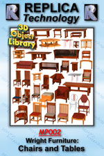 Wright Furniture: Chairs and Tables - Lightwave, Mac/Win Dwnld