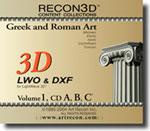 Volume 1: Greek & Roman Art, LWO+DXF, Mac/Win